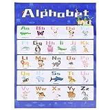 STOBOK Alphabet Wand Poster 26 Englisch Buchstabe Tier Wandkarte Vorschule Tier Lernspielzeug für Kleinkinder Pre-K Kindergarten Tagesstätten (40X60cm)