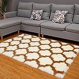 ele ELEOPTION Alfombra suave Shaggy antideslizante, alfombra mullida para sala de estar, habitación de los niños, sala de juegos, dormitorio (60 x 180 cm, camello)
