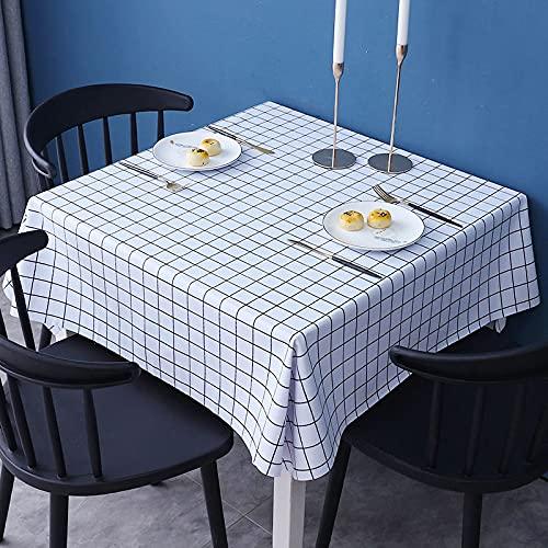 sans_marque Paño de mesa, paño de mesa de color sólido, a prueba de polvo y a prueba de encogimiento, utilizado para la decoración de mesa de picnic de la cocina 111x111cm