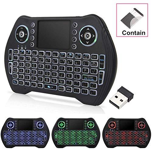 Mini drahtlose Tastatur, 2,4 GHz Wireless-Mini-Tastatur-Controller mit Kompatibel mit Android TV Box, IPTV, HTPC, Smart TV, PC, etc Backlit Trockenbatterie xuwuhz ( Color : Backlit lithium battery )