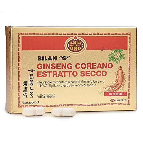 NATURANDO Srl - Bilan G - 40 Cápsulas Complemento Alimenticio a Base de Ginseng il Hwa Sello Oro En Extracto Seco Y Vitamina E (13)