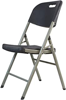 Chairs Folding Chair, Office Dining Chair Office Chair Office Chair, Portable Plastic Material with Chair Back (Color: Blu...