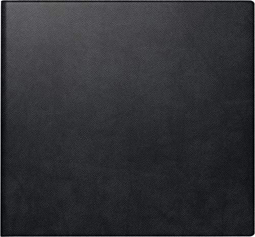 BRUNNEN 1076222 Buchkalender Quadratkalender klein (2 Seiten = 1 Woche, 162 x 150 mm, Kunststoffhülle, mit Kalendarium 2020 und Notizblock) schwarz