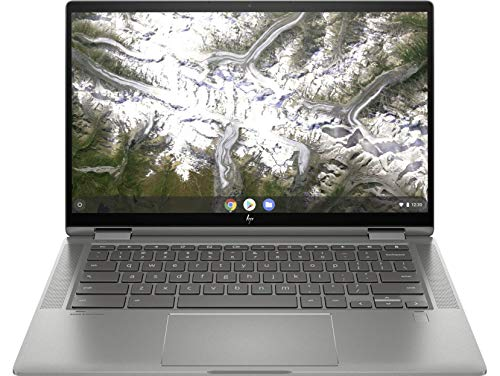 "HP Chromebook x360 14c-ca0000ns - Ordenador portátil de 14"" FullHD Convertible (Intel Core i3-10110U, 4GB RAM, 64GB eMMC, Intel UHD, sistema operativo Chrome OS) plata - Teclado QWERTY Español"