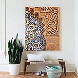 Impresión de la Lona del Cartel del Arte Arte de la Pared marroquí Impresión de la Lona Arquitectura de Marrakech Cartel Boho Decoración de la Pared Terracota Imagen del Arte Decoración Pintura Mural