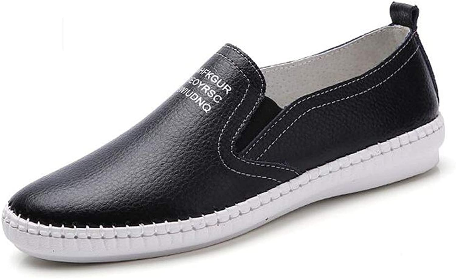 Women's Fashion Flats Comfortable Leather Non-Slip Casual shoes.