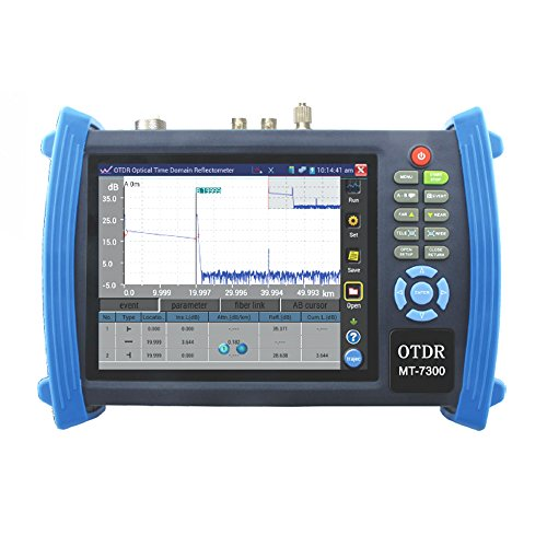 OnvianTech 7 Inch Touch Screen Professional Handheld Optical Time Domain Reflector OTDR CCTV Tester IP Camera and Analog Camera Test PTZ Control TDR tester Cable Scan IP Address Scan MT-7300