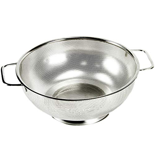 Chef Craft 21945 Microperforated Stainless Steel Colander, 5 quart, Silver