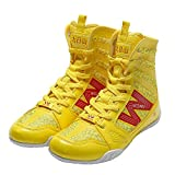 Wesing Unisex Pro Kickboxing Footwears Training Shoes High-top Ankle Boxing Shoes