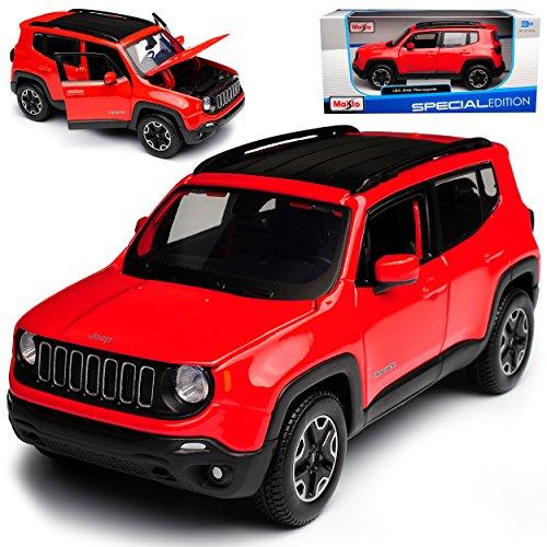 Maisto Jeep Renegade SUV Rot Ab 2014 1/24 Modell Auto