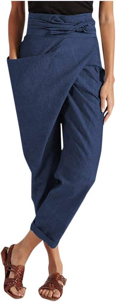 cinnamou Neue Damen Tarnen Sporthose Freizeithosen Hohe Taille Hose Weitem Bein Flared Pants