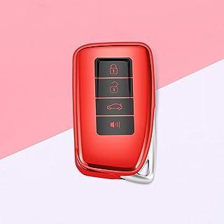 LINDANIG Para Toyota Key Fob Cover Protección completa Funda Key Fob con llavero Compatible con el