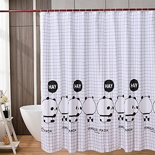 WAITER TREE Duschvorhänge 180x200 Duschvorhänge mit Motiv Waschbar Bad Vorhang Textil aus Polyester Stoff Wasserdicht Duschvorhänge mit 12 Duschvorhängeringen