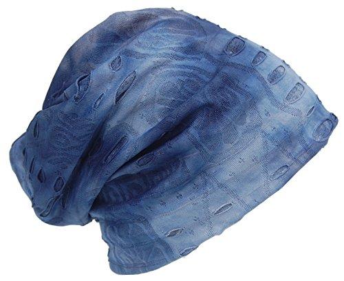 Cool4 Vintage Beanie Destroyed Used Look hemelsblauw blauw Slouch Retro Beanies stijlvol VSB05