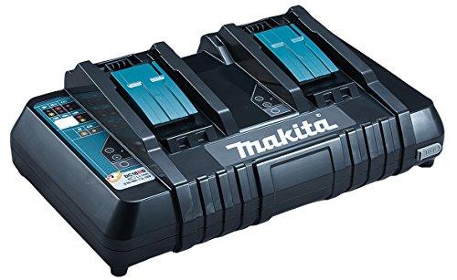 Makita 630868-6 Dc18Rd Caricatore Veloce per 2 Batterie allo Stesso Tempo 220V, 0 W, 0 V, Blu