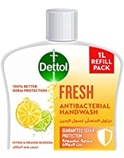 Dettol Fresh Handwash Liquid Soap Refill for effective Germ Protection & Personal Hygiene (protects against 100 illness causing germs), Citrus & Orange Blossom Fragrance, 1L