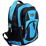 Monzana Rucksack Laptoprucksack Notebookrucksack Backpack Schulrucksack Schulranzen Freizeitrucksack 34 l Boden- und Innenfachpolster wasserabweisend strapazierfähig 7 Fächer blau-schwarz