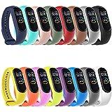 Hianjoo Bracelet Compatible pour Xiaomi Mi Band 4/3, Sport Remplacement Sangle Accessoires en...