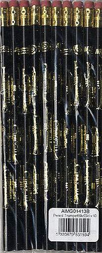 Potlood Trompet Zwart en Goud - Pack van 10-briefpapier