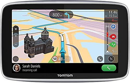 TomTom Navigatore Satellitare per Auto GO Premium 6, Traffico, Tutor e Autovelox, Mappe Mondo, Aggiornamenti Tramite WiFi, Chiamate in Vivavoce, Supporto Reversibile Magnetico, 6 Pollici