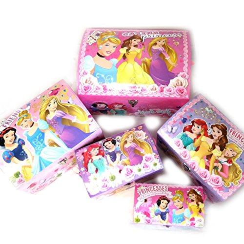 Disney Princesses [N0883] - Set de 5 Malles Dome 'Princesses Rose Violet