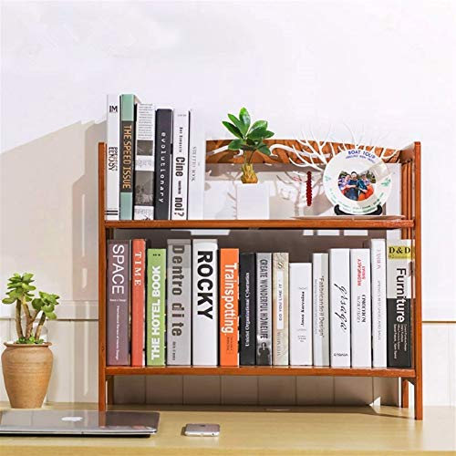 WSJTT 50cm Schülertisch Bibliothek Bücherregal Bambus Holz-Desktop Einfache Multifunktions-Holz Self Storage Halter Home/Office-Dekor