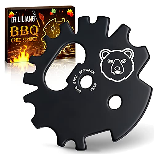BBQ Grill Scraper Stocking Stuffers - Grate Grilling Kitchen Gadgets Accessories Christmas Birthday Gifts Cool Tool for Men Women Dad Mom Chef Indoor Cooking Cleaning Bottle Opener for Outdoor Camping