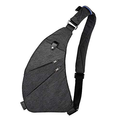 TOPNICE Sling Bag Shoulder Chest Crossbody Bags Lightweight Casual Outdoor Sport Travel Hiking Multipurpose Anti Theft Sling Purse Back Pack for Men Women in Gray
