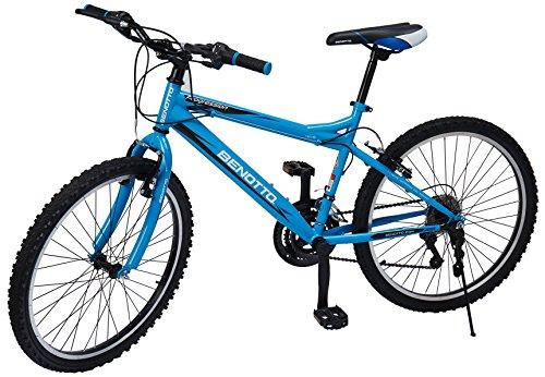 Benotto MRHPRO2421UNAZ Bicicleta de Acero Rodada R24, Hombre, Frenos V, 21 Velocidades