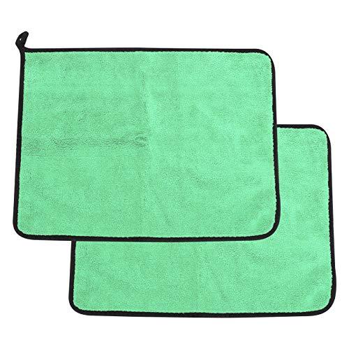 Alomejor Handtuch Baumwolle Angeln Handtuch Verdickung Wasseraufnahme Doppelseitige Farbe Handtuch Angeln Zubehör(Grün + Grau)