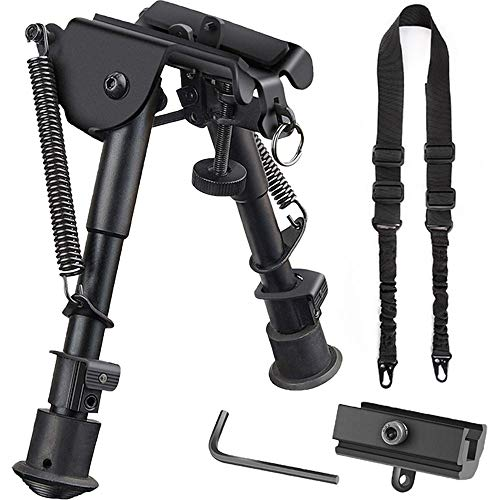 CVLIFE 6-9 Rifle Bipod & Two Point Rifle Sling Combo Picatinny Bipod Sling Bipod Sling Mount