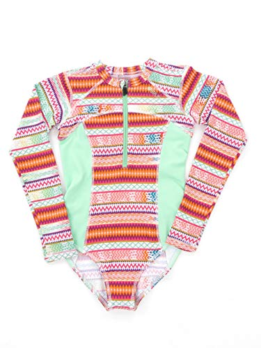 Brunotti Swimsuit badpak Beachwear groen lange mouwen Saltie UV-bescherming maat 152
