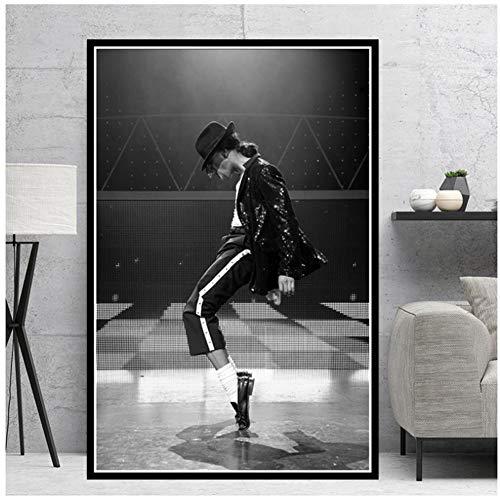 A&D Michael Jackson Rock Pop Musik Legend Star Poster Malerei Leinwand Wandkunst Bilder Für Wohnzimmer Dekoration-50x70 cm Kein Rahmen