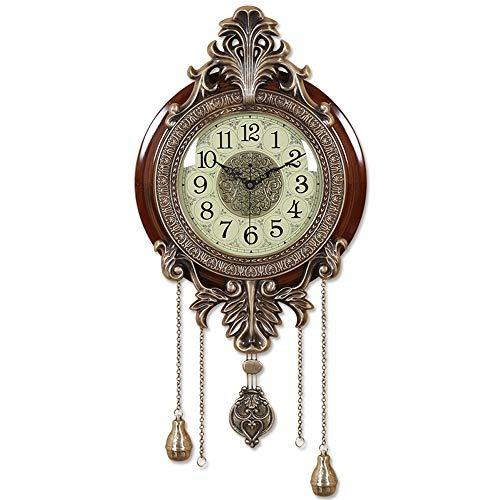 ZQY Sala Reloj De Pared De Un Lado Pared del Reloj del Reloj Dormitorio Silencioso Reloj De Péndulo De La Moda del Reloj (Color : B)