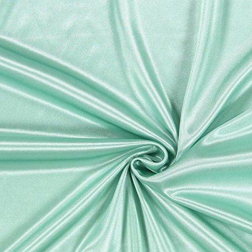 Futterstoff Charmeuse – mintgrün — Meterware ab 0,5m — STANDARD 100 by OEKO-TEX® Produktklasse I — zum Nähen von Futter, Abend- und Partymode und Tops/T-Shirts