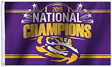 Fremont Die NCAA LSU Tigers 2019 Men's College Football National Champions 3 x 5-Foot Flag