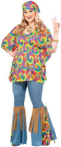 Forum Novelties Women's Plus-Size Hippie Chick Plus Size Costume, Multi, Plus
