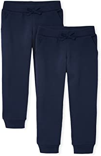 The Children's Place girls Uniform Active Fleece Jogger Pants 2-Pack Pants
