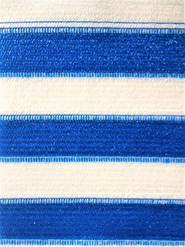Easy Gardening AGROFLOR, Balkonblende, Sichtschutz, inkl. Kabelbinder, Größen (0,75 x 5 m, blau/Weiss)