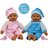 The New York Doll Collection 12' Sweet Hispanic Twin Dolls Play Baby Dolls - Doll Pacifier Included