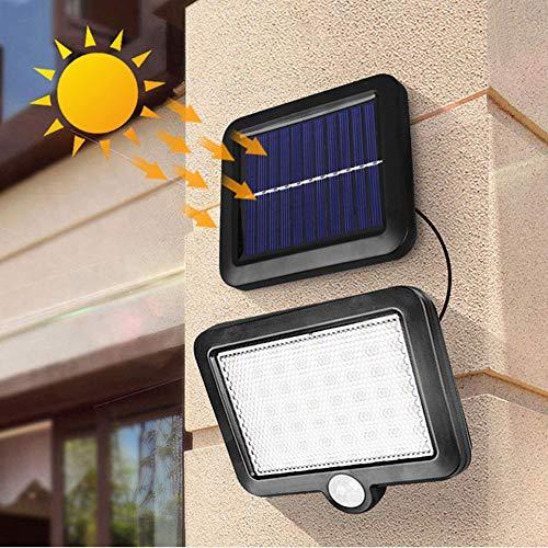 Lixada Solarlampen für Außen mit Bewegungsmelder, 56 Led Outdoor solar bewegungssensor licht Garten Sicherheit Schutz Lampe wasserdichte Wand pfad Lichter