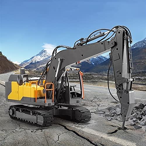 UimimiU Control Remoto camión Coche Remoto Coche Tractor RC Excavadora grúa 2.4g...