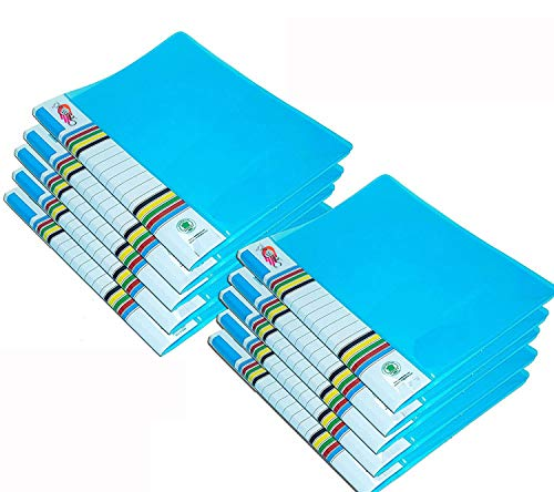 GreatDio Blue A4 Folder Case Presentation Line Transparent Report File -10 Pieces