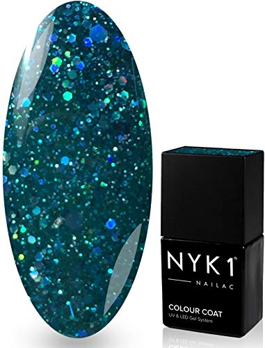 NYK1 NAILAC - Diamond Emerald - Professional Shellac Gel Nail Polish - UV & LED Drying - Quick Soak Off Gel Polish 10ml - Over 100 Shellac Colours to Choose from!