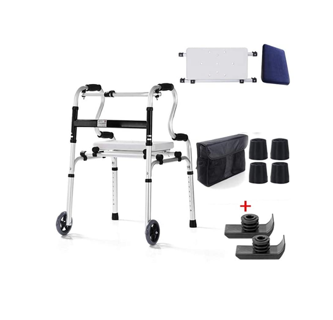 ホールドオール薬理学受粉者年配の折り畳み式の歩行者の調節可能な歩行の援助障害者との限られた移動性のための腕の残りパッドが装備される車輪