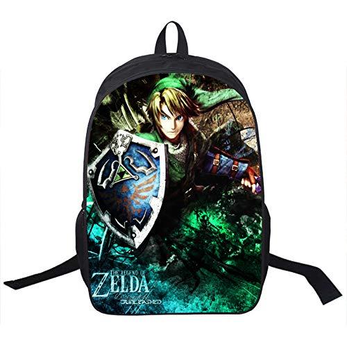 Die Legende von Zelda Anime Die Legende von Zelda Rucksack Jugendliche Kinder Jungen Mädchen Die Legende von Zelda Schultasche Frauen Männer Reiserucksack Laptop Rucksack