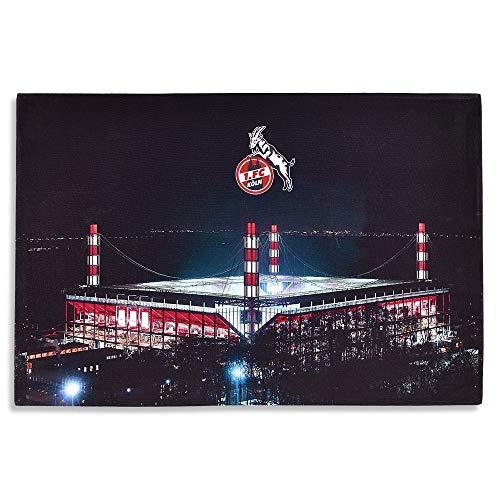 1. FC Köln LED Bild - Stadion - Wandbild mit Beleuchtung RheinEnergieStadion - Plus Lesezeichen I Love Köln