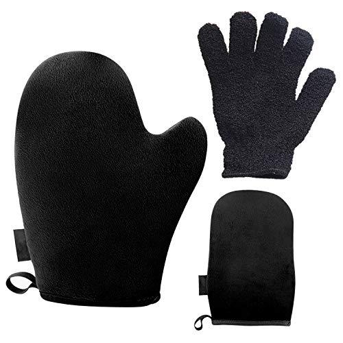 2 STKS Massaal Zelfbruiner SPA Mitt Applicator 1 STKS Exfoliërende Handschoen voor Spray Mousse Olie Zonnebrandcrème Body Lotions