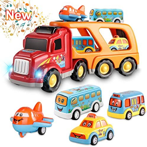 Toys for 1 2 3 4 5 6 Year Old Boys Kids Toys Car for Girls Boys Toddlers 5 in 1 Friction Power product image