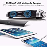 USB Lautsprecher, ELEGIANT elegante tragbare Stereo Lautsprecher wired USB Powered Computer Lautsprecher Boxen Portable Speaker Musik Palyer Musik Sound Box für PC Computer Notebook Smartphone MP3 MP4 MDP Walk-Mann - 3